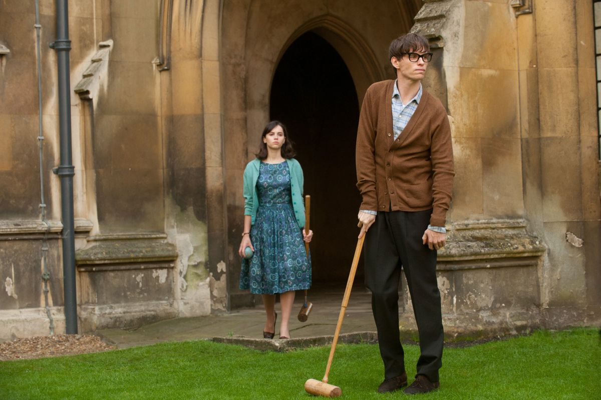 The Theory of Everything (starring Felicity Jones and Eddie Redmayne) has some nice acting. But one of the best movies of the year? Really?