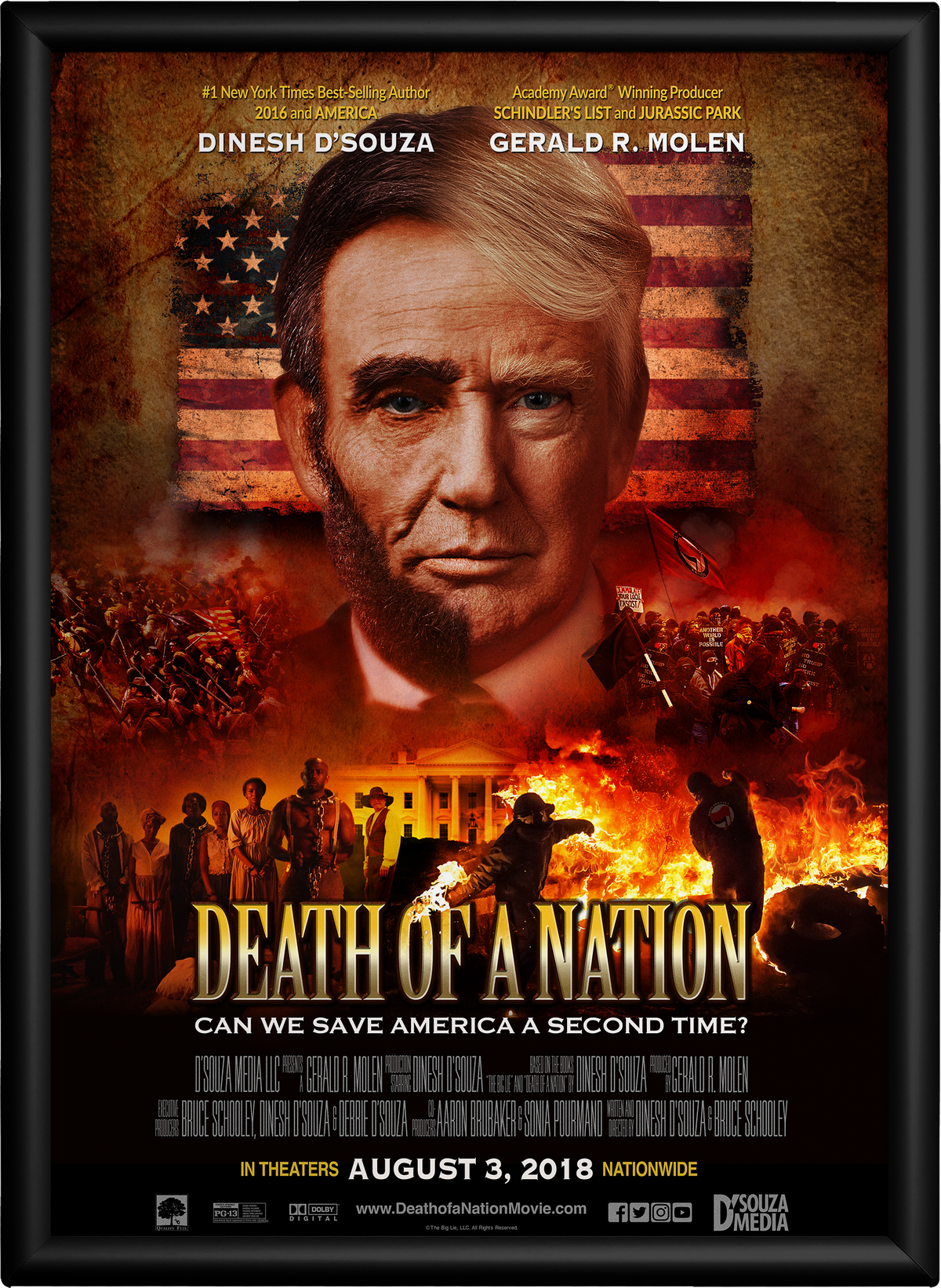The poster for Dinesh D'Souza's newest film, which comes out on August 3.
