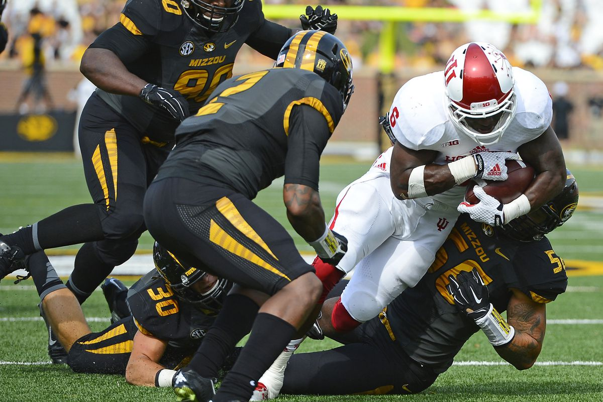 Tevin Coleman rushing in his dominant performance against Missouri
