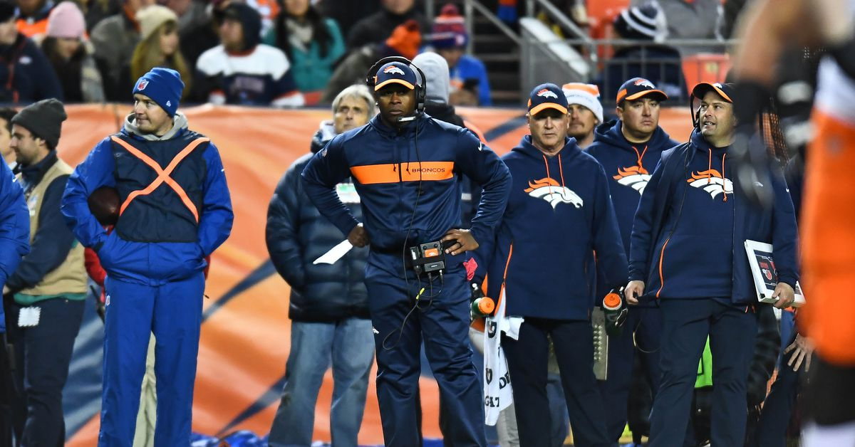 """Vance Joseph: """"We have a great staff."""""""