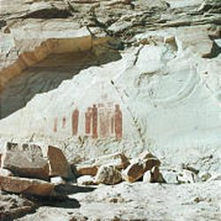 Emery County contains a number of walls of early American rock art.