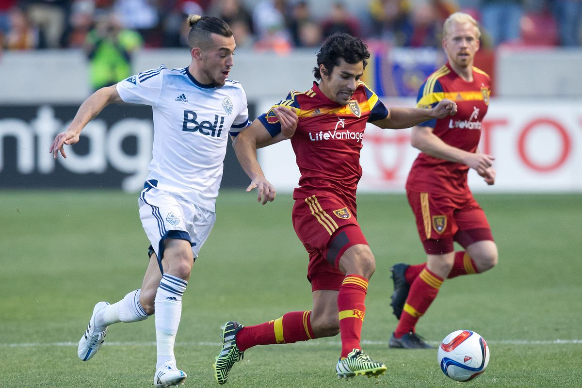 Will a win over RSL this weekend help Russell Teibert (L) and the Vancouver Whitecaps get their mojo back?