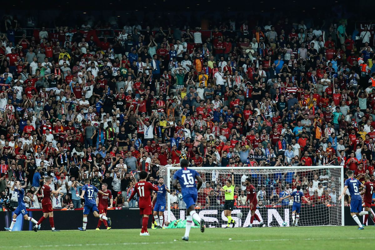 Adrian of Liverpool in action during the UEFA Super Cup...