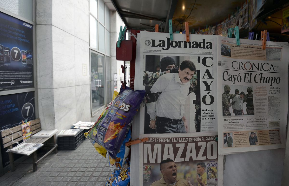 Mexico newspaper headlines el Chapo arrest