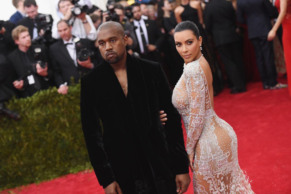 Kanye and Kim Kardashian-West.
