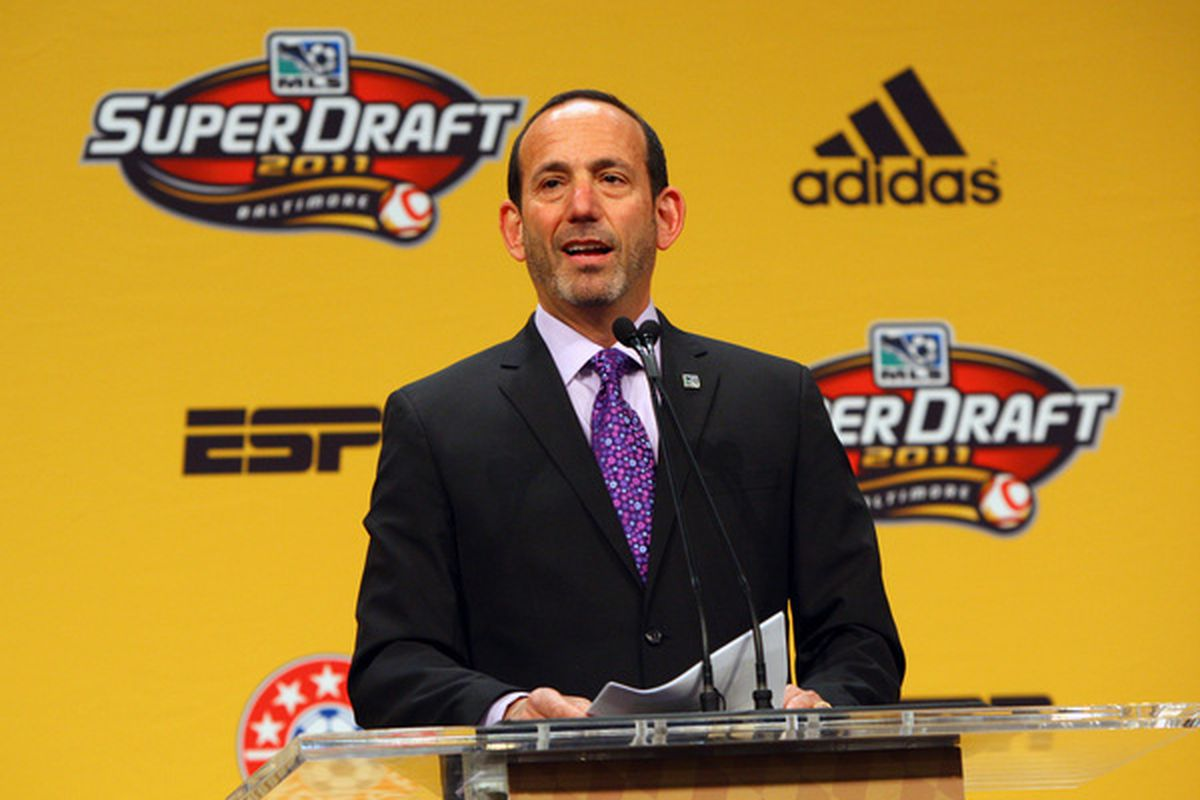 With the fourth pick in the 2012 SuperDraft Toronto FC selects.....Don Garber!  Not really but I have some options for you!
