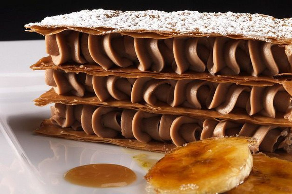 """Mille Feuille at Troquet by <a href=""""http://www.flickr.com/photos/dalecruse/8550791737/in/pool-1844845@N22"""">dalecruse</a>."""