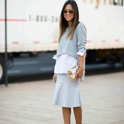 """Aimee of <a href=""""http://www.songofstyle.com""""target=""""_blank"""">Song of Style</a> is wearing a BCBG <a href=""""http://www.bcbg.com/Runway-Tauriel-Shirt/FRY1S956-016,default,pd.html?dwvar_FRY1S956-016_color=016&cgid=runway-prefall-2014&cm_mmc=EBAY-_-AFFILIATES-"""