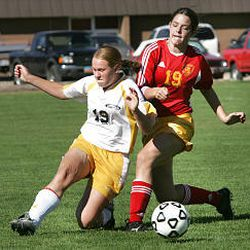 Wasatch player fights Judge's Alex May for the ball during 3A game in Heber City. The victorious Judge team also won the Italy Cup this summer.