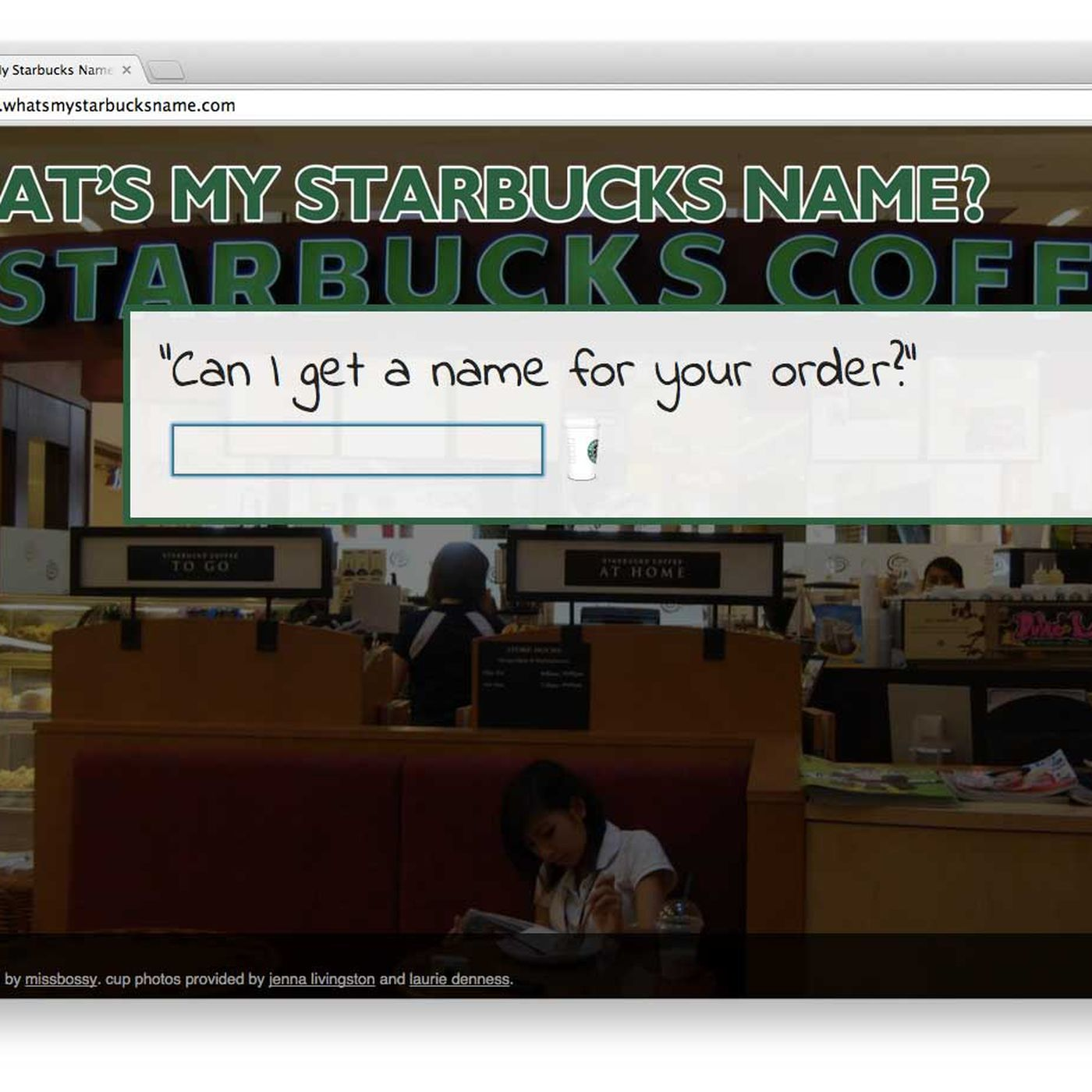 Have a Starbucks Experience at Home With this Botched Name