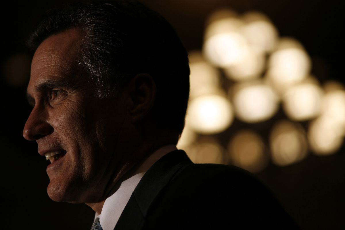Romney at the Reagan Day Dinner Gala Wednesday, April 11, 2007, in Dallas, Texas.
