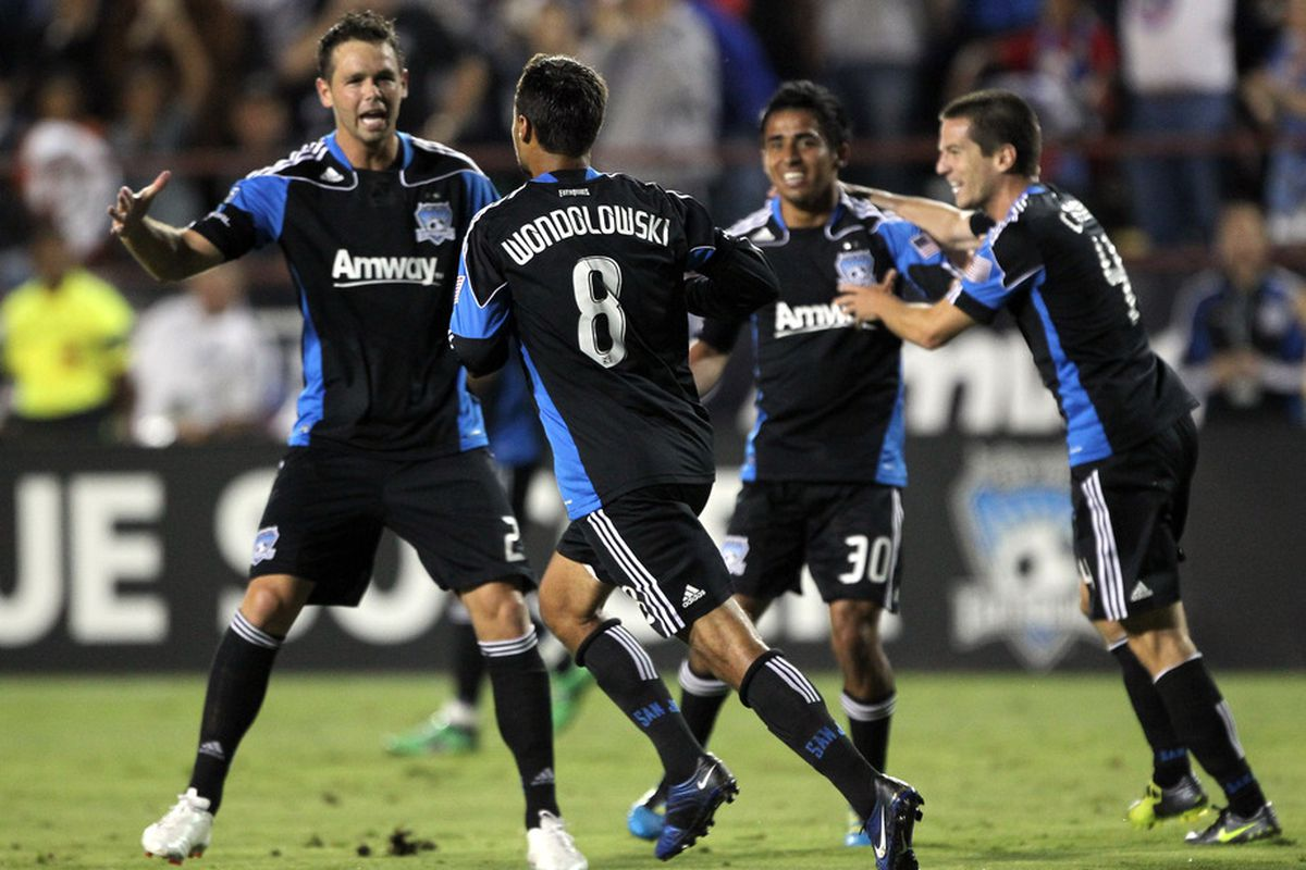 Chris Wondolowski and the San Jose Earthquakes will try to even the season series with Sporting Kansas City when they meet at Buck Shaw Stadium this Saturday.  (Photo by Ezra Shaw/Getty Images)