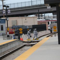"""Emergency personnel participate in """"Hell on Wheels,"""" a full-scale, two-day, emergency protection and response drill at the Salt Lake Central Station on Tuesday, Aug. 8, 2017. The drill included emergency personnel from the Utah Transit Authority, the FBI, Salt Lake County Emergency Management, the West Valley and Salt Lake City fire departments, University of Utah Emergency Management, the University of Utah Police Department, Amtrak, Union Pacific, Murray Victim Advocates and Utah State Medical Examiner's Office. The drill simulated multiple terrorists entering the Salt Lake Valley and dividing up."""