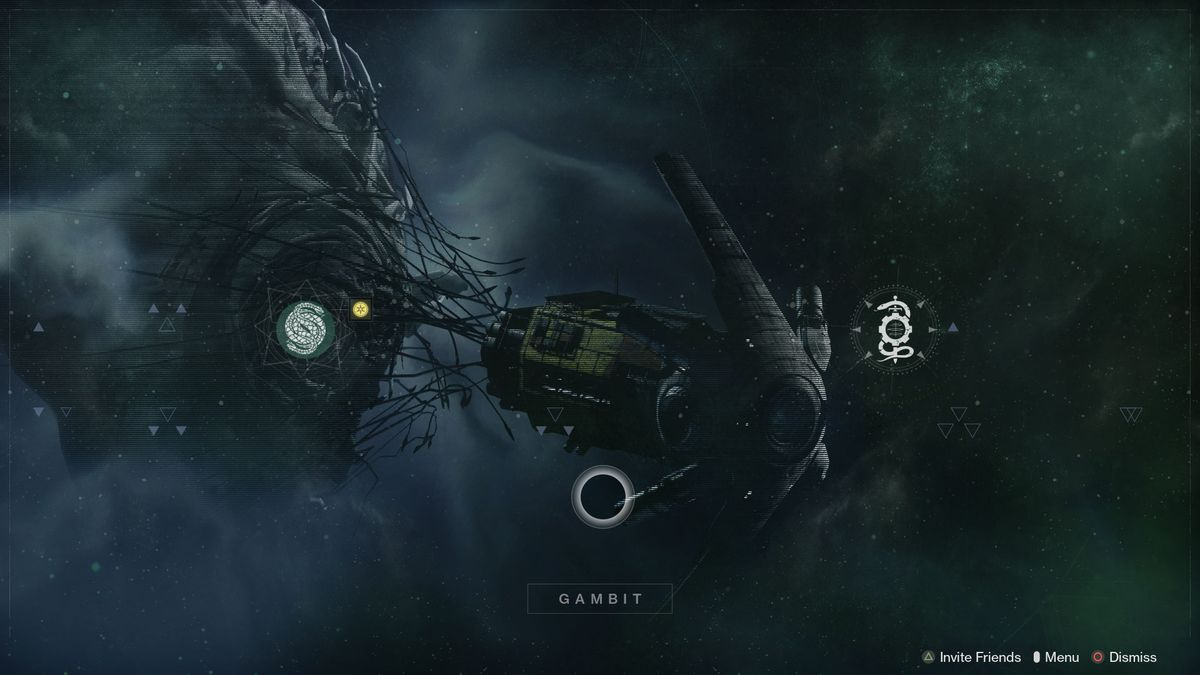 Destiny 2: Beyond Light Gambit menu