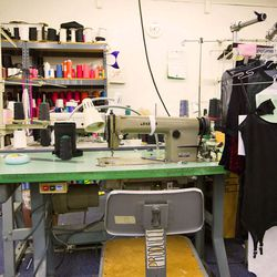 The downstairs sewing room.