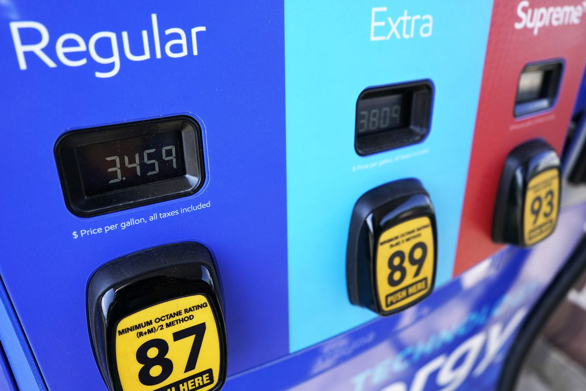 Gas price is seen at a Mobil gas station in Vernon Hills, Ill., Friday, June 11, 2021. The rising cost of gasoline is being felt across the U.S., as the national average price has gone up from $2 per gallon last year to $3 per gallon as of June 9, according to data from the American Automobile Association.