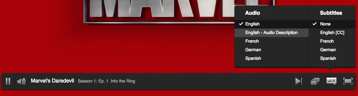 Netflix Audio Description