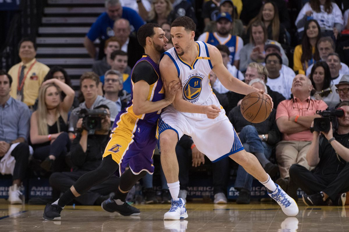 4d297637b3c NBA Free Agency Rumors  Mychal Thompson says Klay Thompson isn t coming to  the Lakers