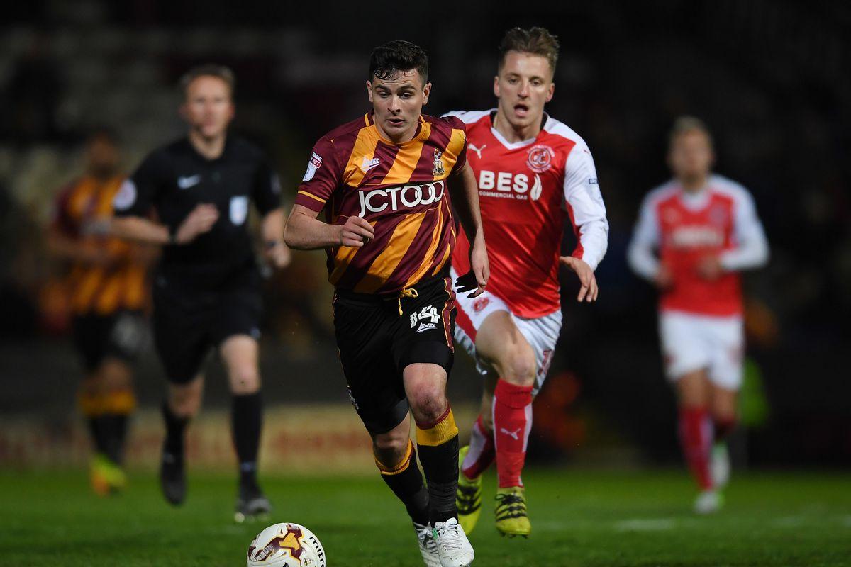 Bradford City v Fleetwood Town: Sky Bet League One Playoff Semi Final: First Leg