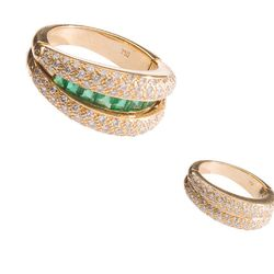 """Estate collection 18k Gold, Emerald, and Diamond convertible ring, <a href=""""http://mflynnjewelry.com/product_info.php?cPath=3&products_id=23497"""">$5950</a>"""