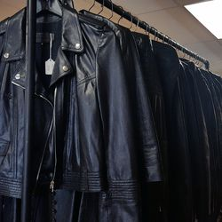 Plenty of luscious leather jackets to choose from.