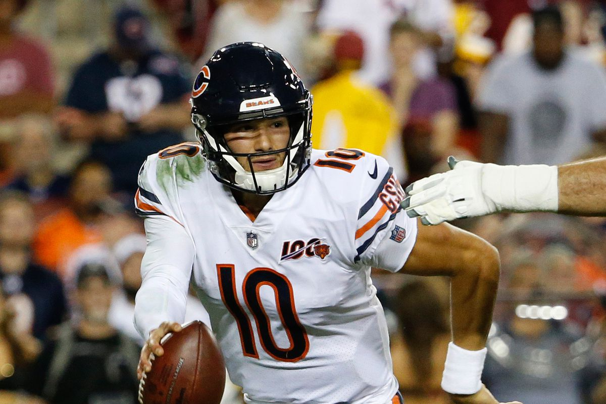 Chicago Bears quarterback Mitchell Trubisky against the Washington Redskins at FedExField.