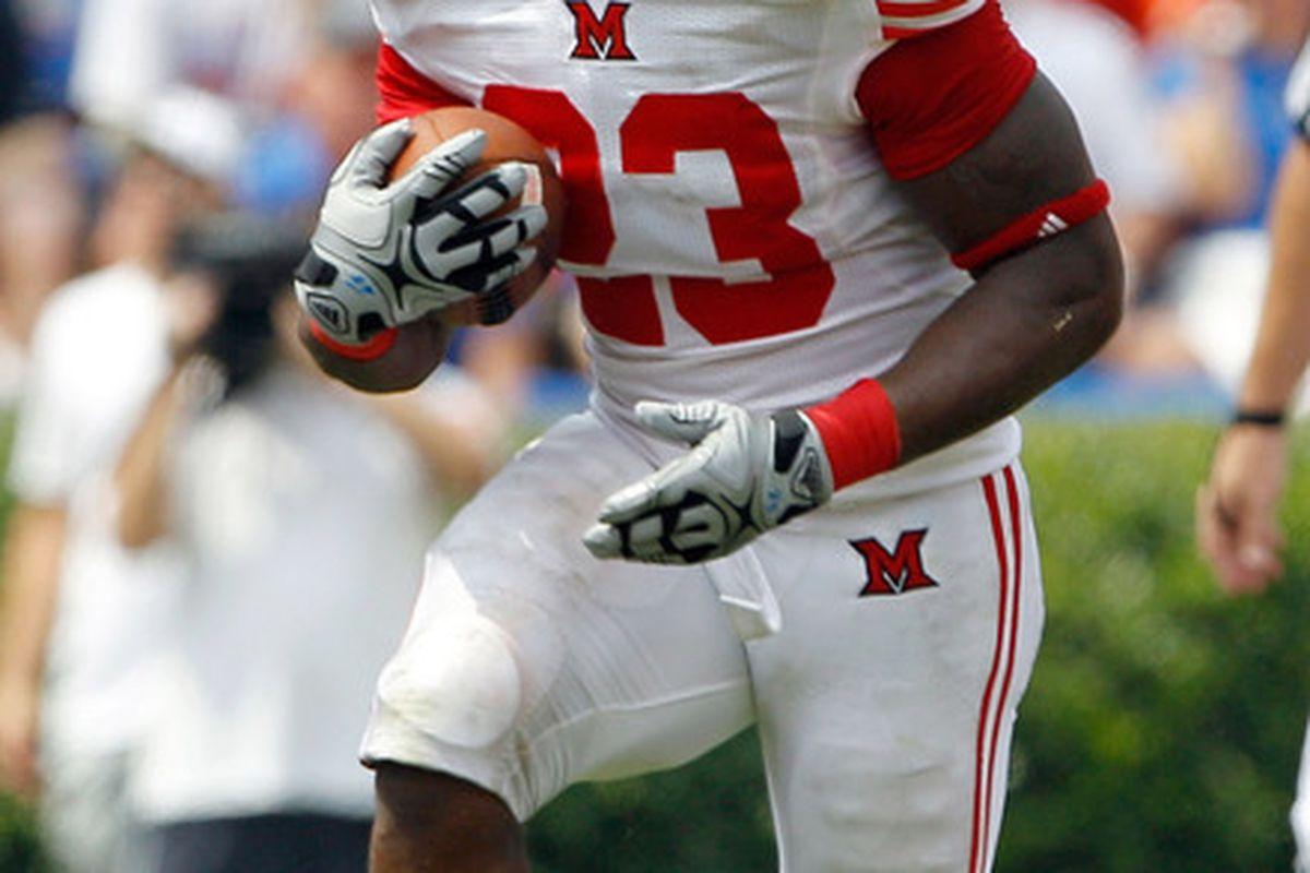 The Miami University Redhawks open 2012 in Ohio Stadium September 1st at noon on The Big Ten Network.