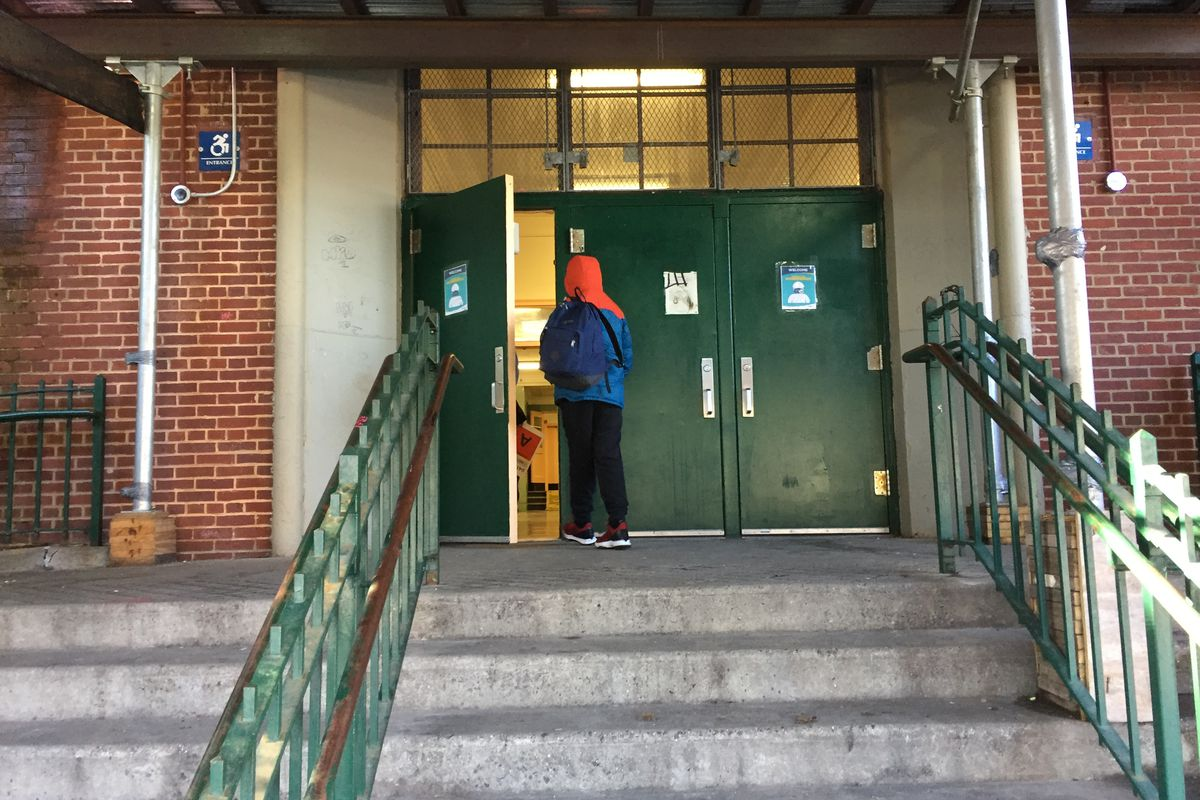 NYC middle schools reopened on Thursday, Feb. 25. Students at M.S. 51 in Park Slope, Brooklyn streamed into the building, socially distanced and masked.