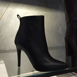 Leather high-heeled bootie, $291 (was $970)