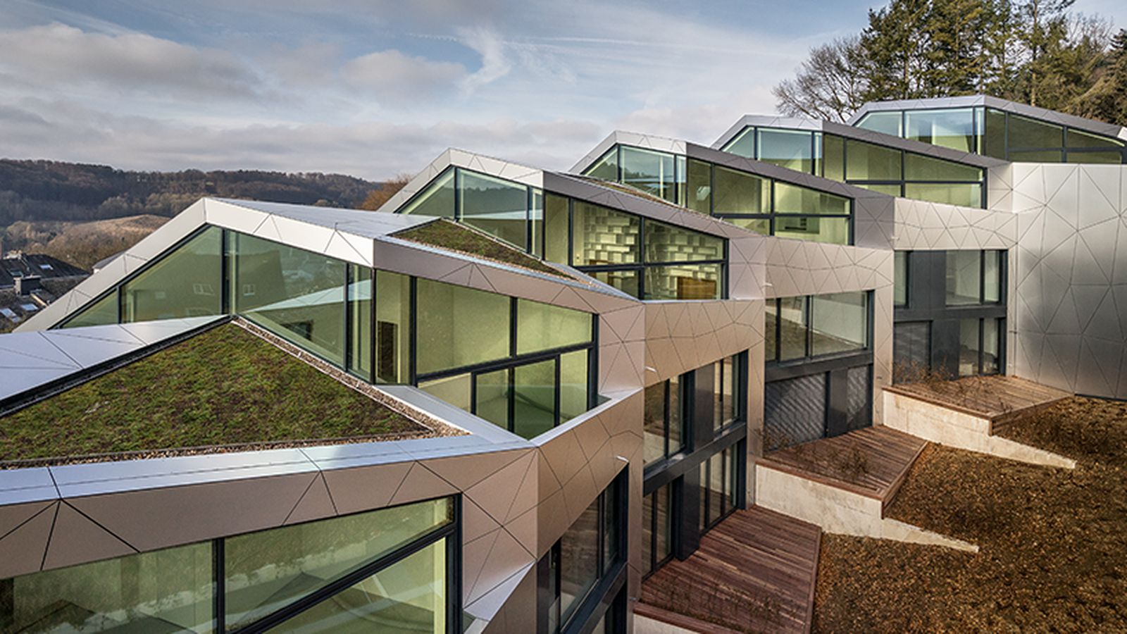 Sleek Multi Family Housing Complex Unfolds In Luxembourg