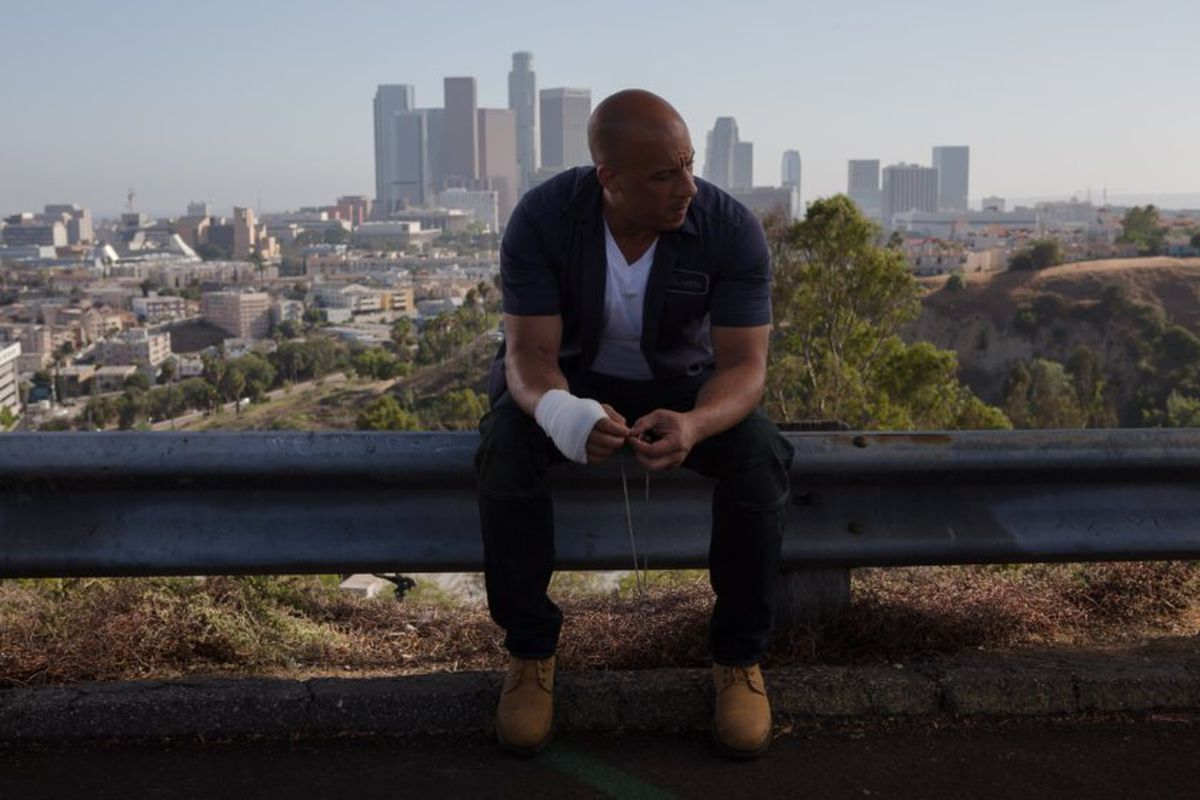 Dom Toretto (Vin Diesel) returns to Los Angeles for one last showdown in Furious 7. That circularity is just one way this movie feels like a TV finale.