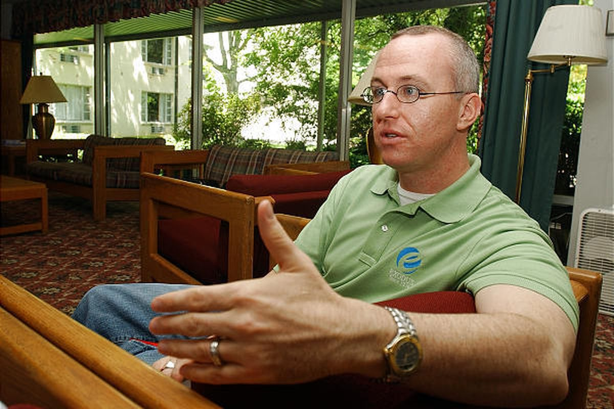 """Alan Chambers, head of Exodus International, is interviewed near Black Mountain, N.C. He says he """"overcame unwanted same-sex attraction."""""""