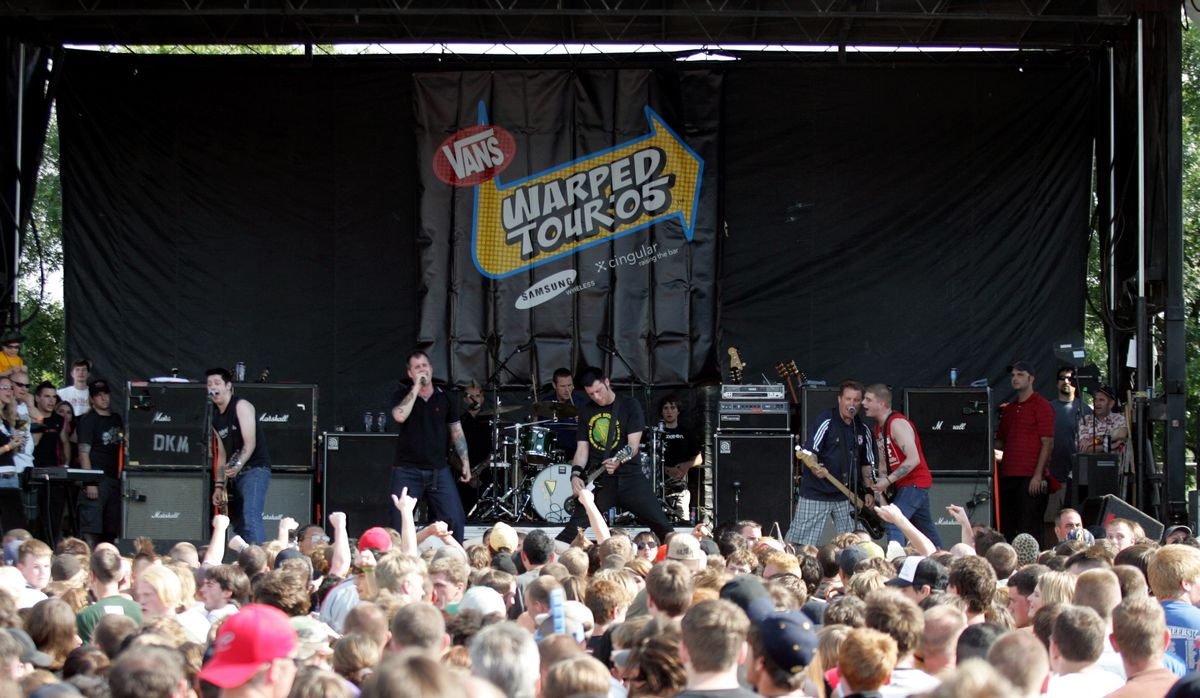 Dropkick Murphys at Warped Tour 2005, the most successful iteration of the festival.