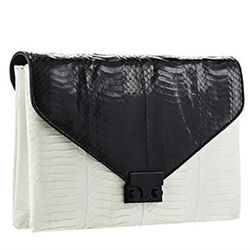 """The unusal texture and graphic contrast of this Loeffler Randall bag would look great with something simple, like jeans and a tee. Loeffler Randall <a href=""""http://www.loefflerrandall.com/LRProduct.aspx?ProductID=816&CategoryID=199"""">Lock clutch</a> in bla"""