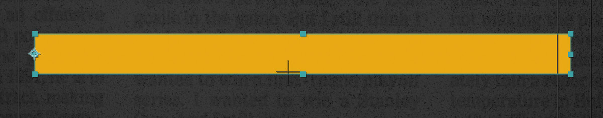 A rectangular yellow box is created against a dark background in After Effects,