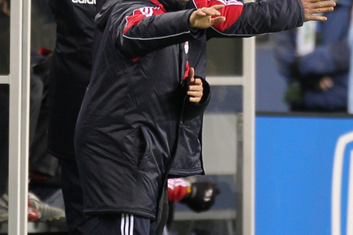 Richie Williams won't be patrolling the Red Bulls' technical area in 2011. (Photo by Otto Greule Jr/Getty Images)
