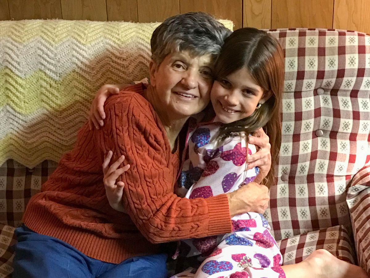 Dora Fronczak with her granddaughter Emma.