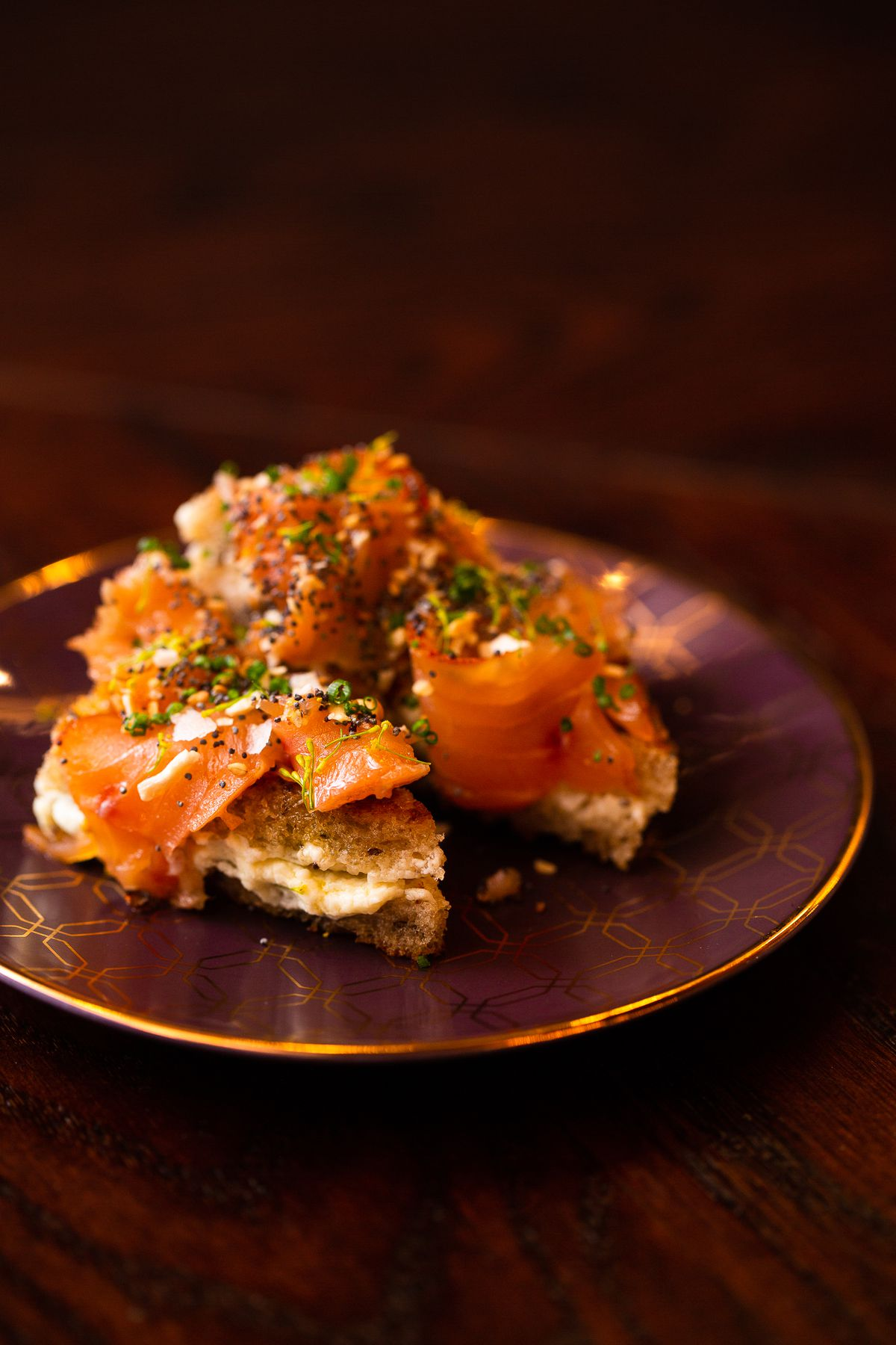 Seeded pastrami salmon and brillat savarin at Fool's Errand
