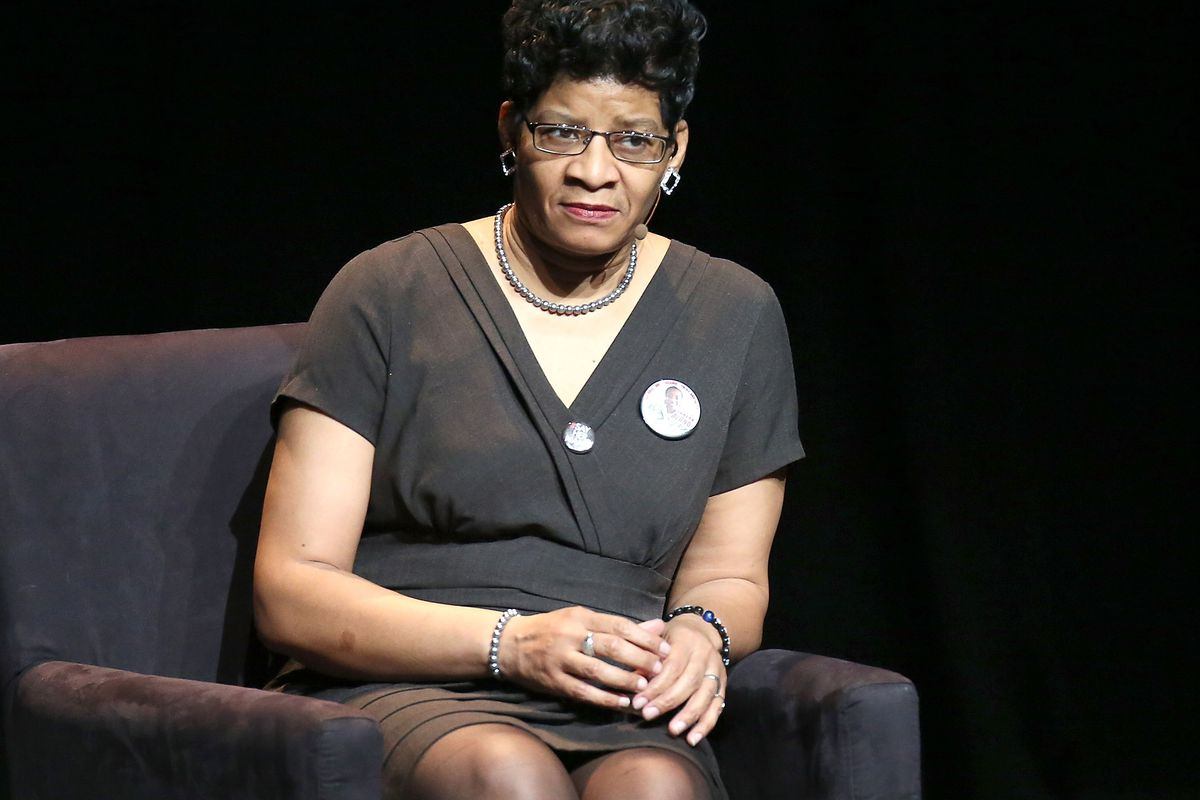 Geneva Reed-Veal speaks at the 2016 Tina Brown Live Media's American Justice Summit at the Gerald W. Lynch Theatre on January 29, 2016, in New York City.