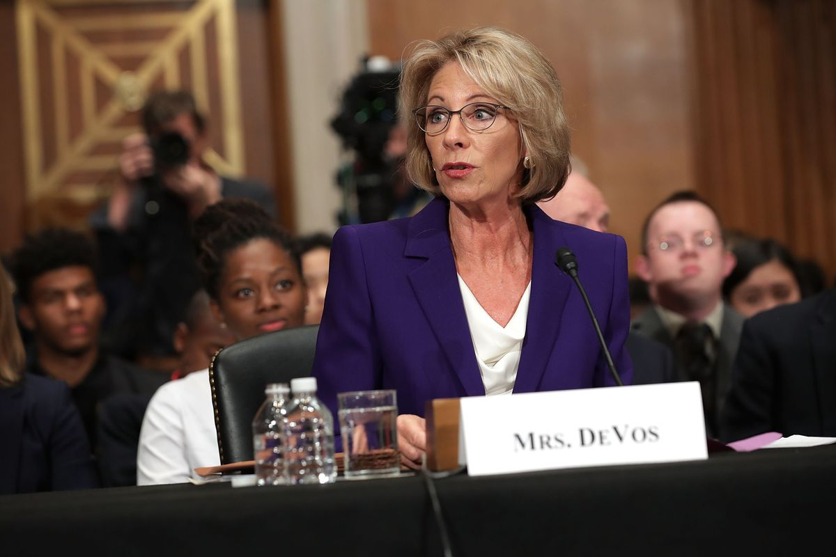 Betsy Devos Wont Be Doing Too Much As >> How Betsy Devos Became Trump S Most Controversial Nominee Vox