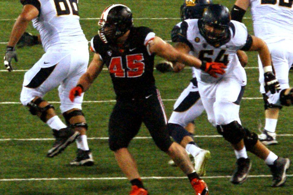 Oregon St. would love to see Dylan Wynn disrupt Washington St.'s freshman quarterback Luke Falk this weekend.