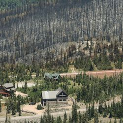 Homes that were spared from the Brian Head Fire are pictured on Friday, June 30, 2017. The evacuation order for Brian Head and Dry Lakes was lifted Friday, 13 days after residents were forced from their homes by the raging fire.