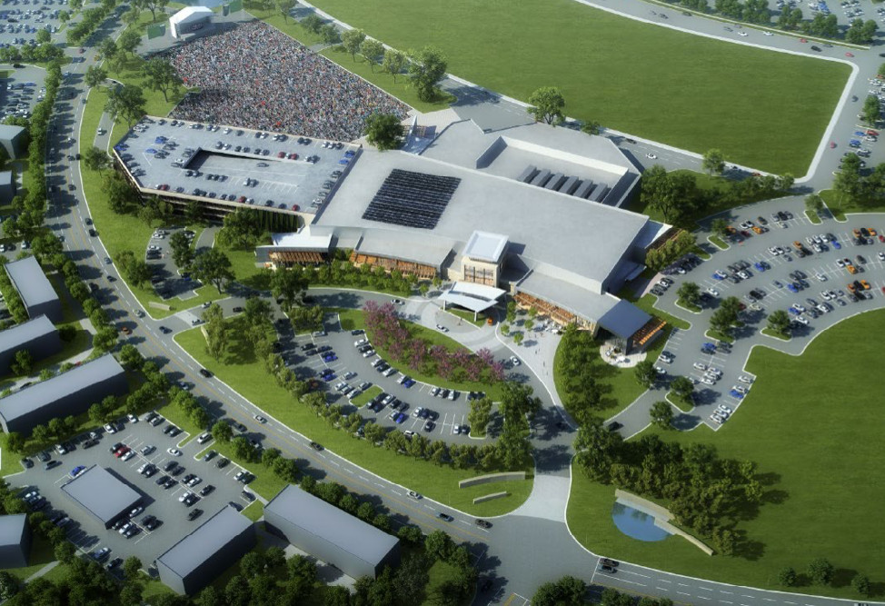 Rendering of the first phase of development for the proposed North Point Casino.