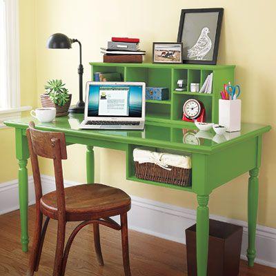 Desk With Storage Cubbies