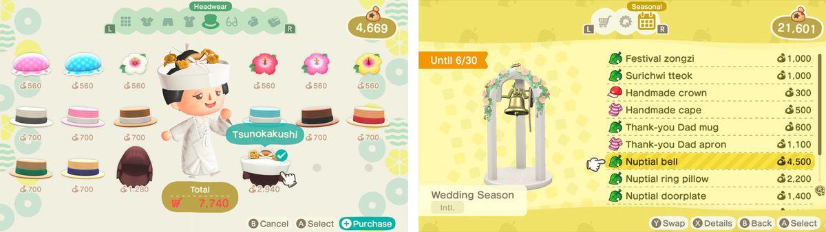Animal Crossing: New Horizons' new wedding stuff