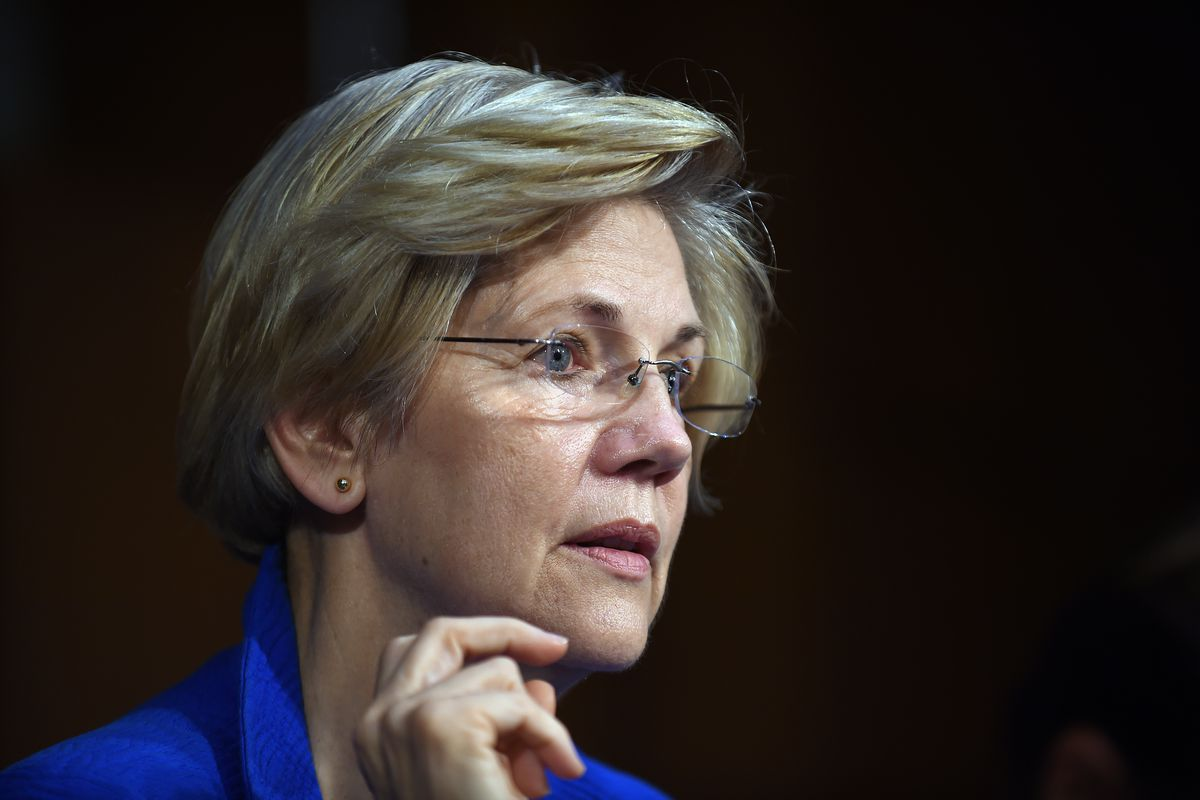 An apprehensive Sen. Warren.