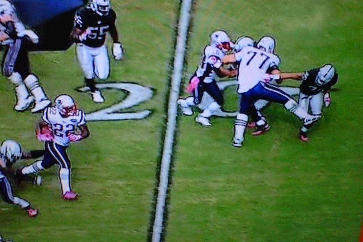Nate Solder, blocking as many people as he can, however he can
