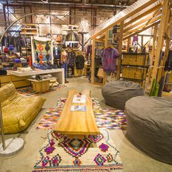 The resting area, complete with vintage rugs and the comfiest seats on the planet.