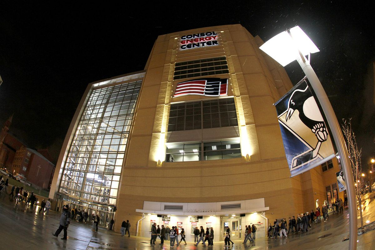 PITTSBURGH, PA - DECEMBER 17:  An exterior view of Consol Energy Center before the game between the Pittsburgh Penguins and the Buffalo Sabres on December 17, 2011 in Pittsburgh, Pennsylvania.  (Photo by Justin K. Aller/Getty Images)