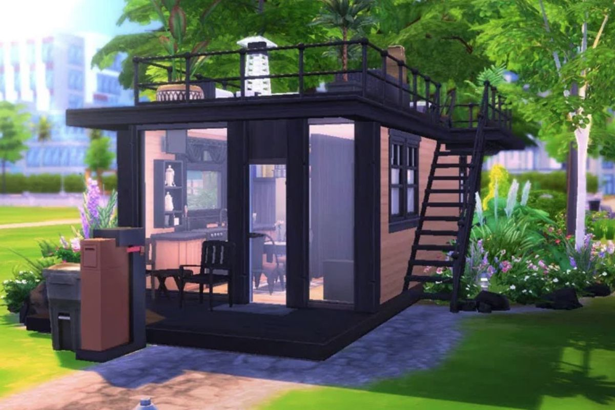 In the Sims 4, tiny houses thrive - Curbed Totoro House Floor Plan on gintama house floor plan, spongebob house floor plan, japan house floor plan, iron man house floor plan, dog house floor plan, barbie house floor plan, south park house floor plan, batman house floor plan, vocaloid house floor plan, anime house floor plan, disney house floor plan,